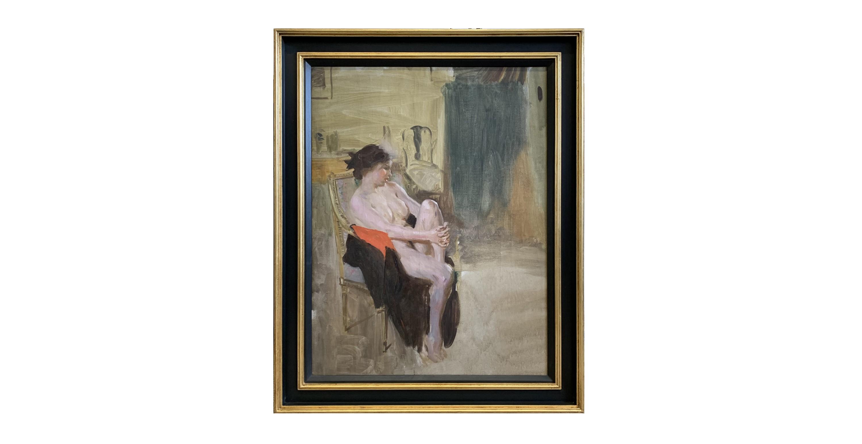 Dame Laura KNIGHT, 1877-1970 Study of Ella Naper Circa 1913 Oil on canvas, lined 55.5 x 73.5cm