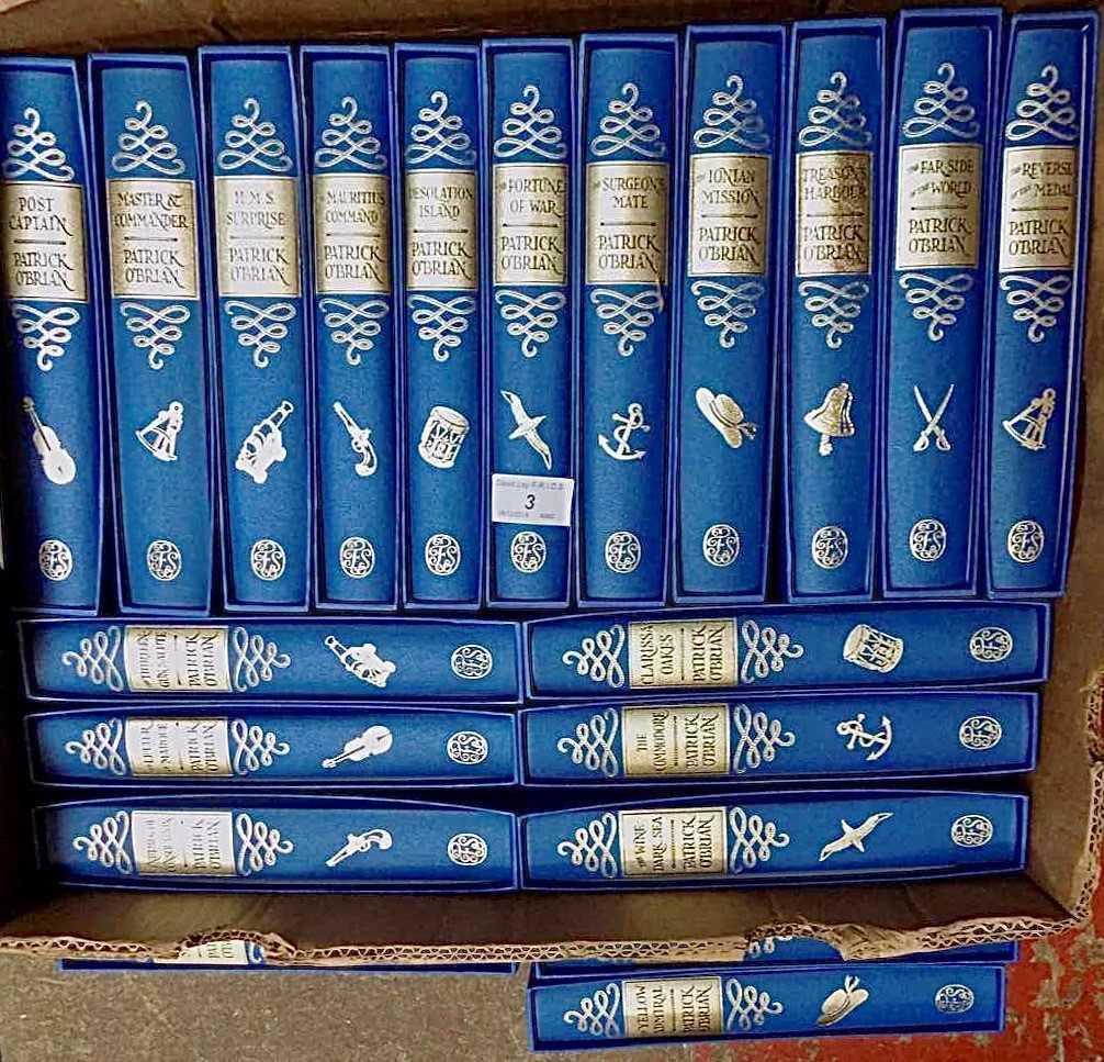 Lot 3-PATRICK O'BRIAN The Aubrey-Maturin series in 20...