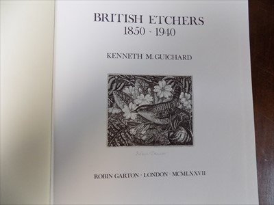 "Lot 17-GUICHARD (KENNETH M.) ""British Etchers 1850-1940.""..."