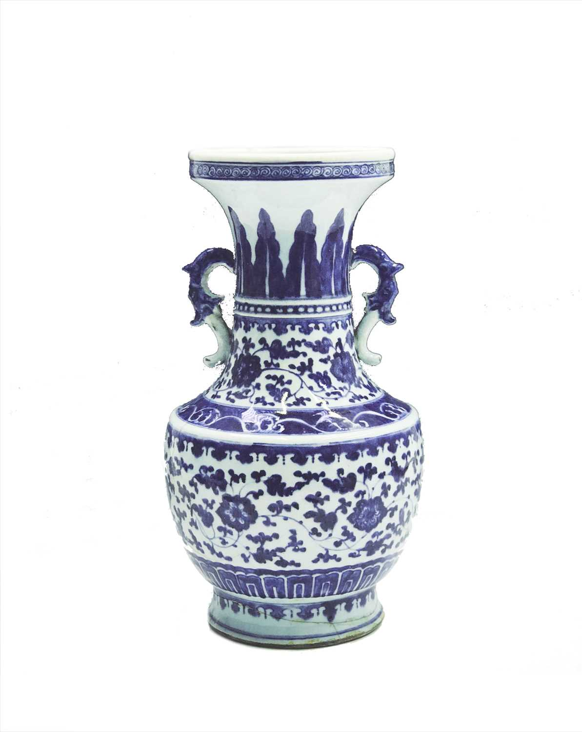 Lot 2-A Chinese blue and white porcelain vase,...