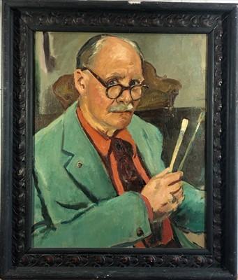 Lot 35-Leonard John FULLER (1891-1973) Self Portrait...