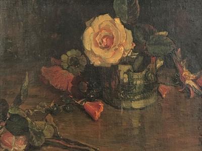 Lot 19-David JAGGER (1891-1958) October Rose Oil on...