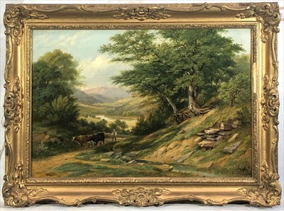 Lot 24-Thomas CRESWICK (1811-1869) Drover with Cattle...