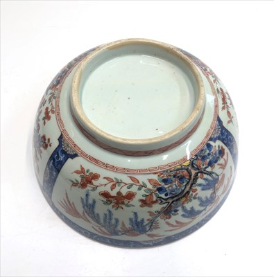 Lot 23-A Chinese porcelain punch bowl, Qianlong, 18th...