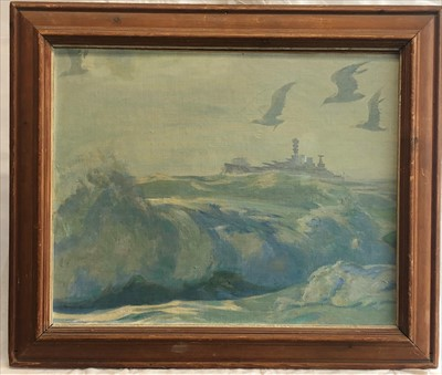 Lot 516-Robert Borlase SMART (1881-1947) 'Wind & Spray'...