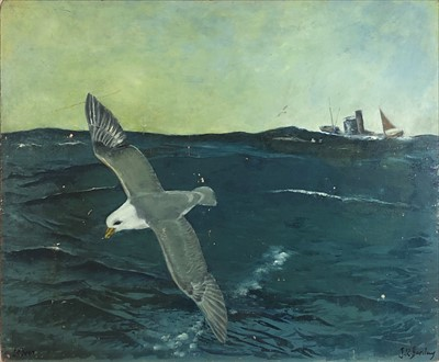 Lot 2-John Rankine BARCLAY (1884-1962) Cornish Lugger...