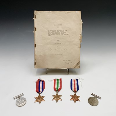 Lot 200 - Medals: WW2 medal groups comprising 5 medals:...