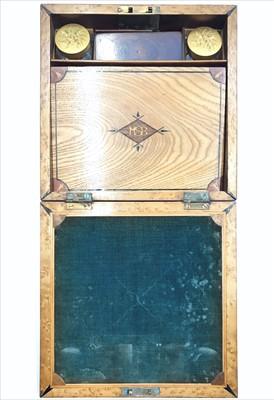 Lot 16-A late 19th/early 20th century mahogany writing...