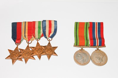 Lot 201 - Medals: A group of 6 World war Two medals...