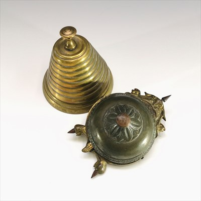 Lot 8-An early 20th century clockwork table bell in the ...