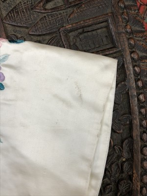 Lot 13-A Chinese white silk embroidered jacket, early...