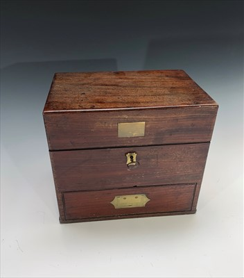 Lot 1-A 19th century mahogany and brass mounted...