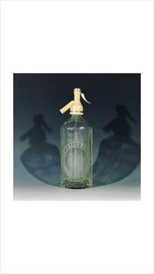 """Lot 8-A vintage """"Schweppes"""" siphon and an earthenware..."""