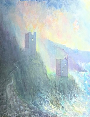 Lot 8-Adrian SMITH (b.1946) Botallack Oil on board...