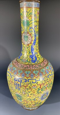 Lot 7-A Chinese cloisonne vase, 19th century, the...
