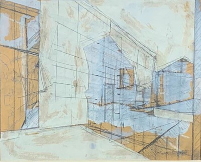 Lot 13-Tom CROSS (1931-2009) Sunlight in an Italian Town ...