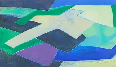 Lot 14-Tom CROSS (1931-2009) Ancient Fields II Gouache...