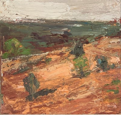 Lot 23-Judy BUXTON (1961) Path Across Hillside Oil on...