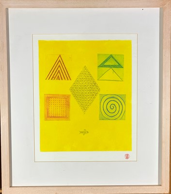 Lot 410 - Denny LONG (1944-2018) Canary Etching and...