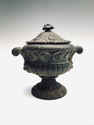 Lot 6-An early 20th century cast iron lidded...