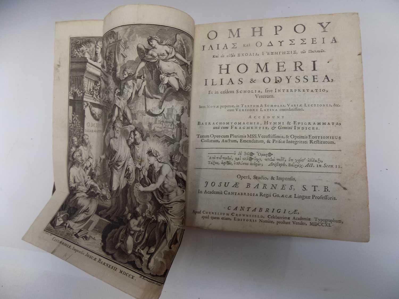 """Lot 1209 - HOMER """"Ilias & Odyssea, et in easdem Scholia,..."""