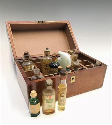 Lot 4-A 19th century mahogany box with brass escutcheon ...