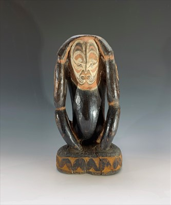 Lot 48-A Papua New Guinea ancestral carved wood figure,...