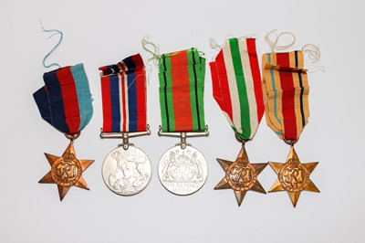 Lot 204 - Medals: World War 2 Medal group of 5 medals...