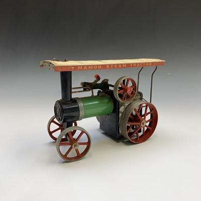 Lot 17-A Mamod model steam tractor, length 25.5cm.