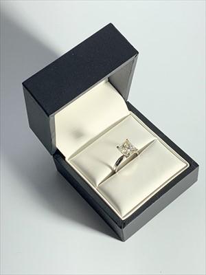 Lot 2514-An impressive 18ct white gold diamond solitaire...