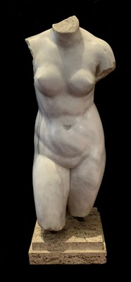 Lot 313-An Italian Grand Tour marble torso, after the...