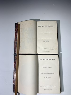 """Lot 1200 - CHARLES DICKENS """"Our Mutual Friend."""" 2 Vols,..."""