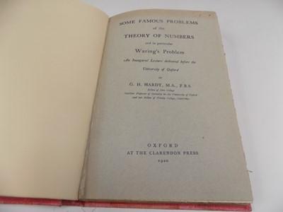 Lot 1208 - GODFREY HAROLD HARDY (Cambridge Mathematician)...