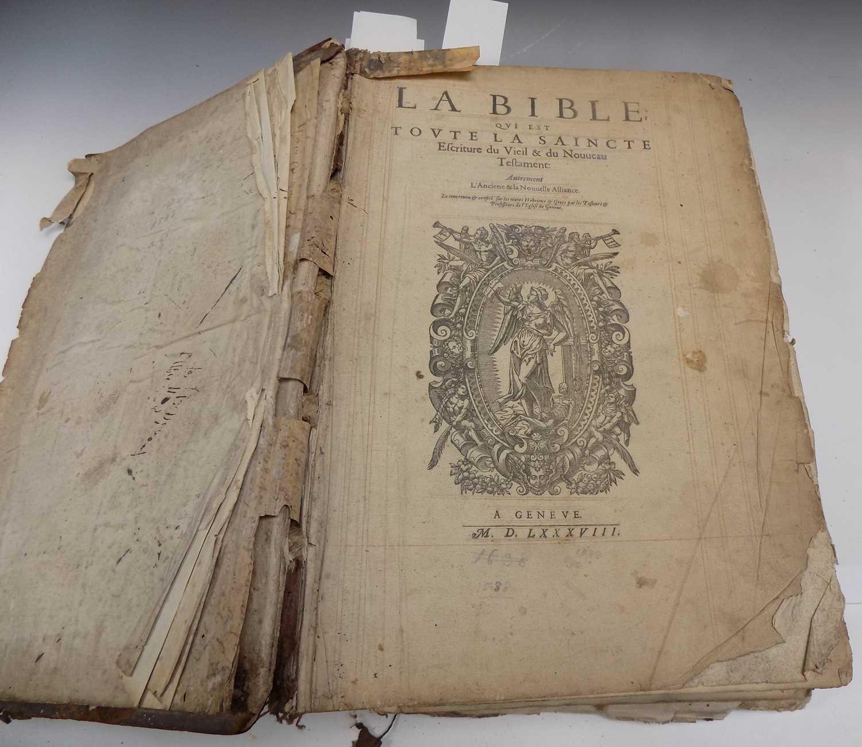 """Lot 1211 - GENEVA BIBLE """"La Bible qui est Toute la..."""
