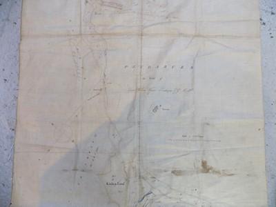 Lot 1218 - CORNWALL ESTATE MAP 2 Good hand coloured pen &...