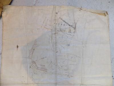 Lot 1218-CORNWALL ESTATE MAP 2 Good hand coloured pen &...