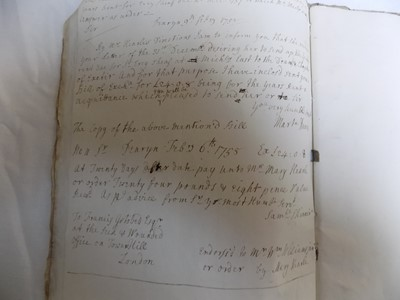 Lot 1220-CORNISH MANUSCRIPT Foolscap account book, Single...