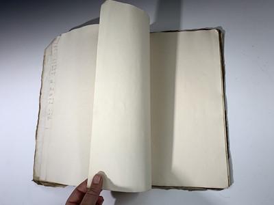 Lot 1220 - CORNISH MANUSCRIPT Foolscap account book,...