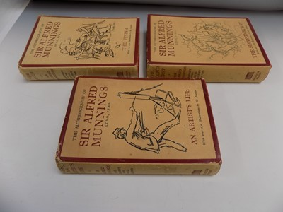 """Lot 1226-SIR ALFRED MUNNINGS """"The Autobiography"""" 3 Vols,..."""