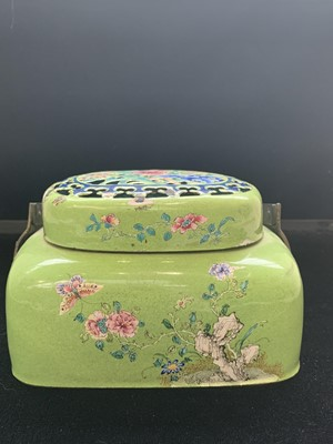 Lot 3-A Chinese enamel hand warmer, early 20th...