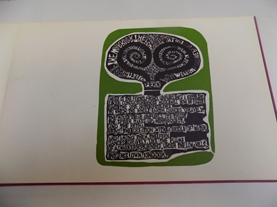 """Lot 1240 - TED HUGHES. """"Poems."""" orig col linocuts by..."""