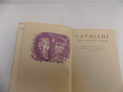 """Lot 1243 - CATULLUS. """"The Complete Poems."""" trans Jack..."""