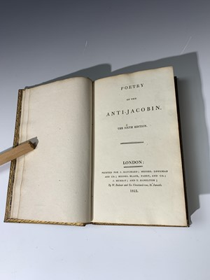 """Lot 1256 - """"Poetry of the Anti-Jacobin."""" 6th edn, well..."""