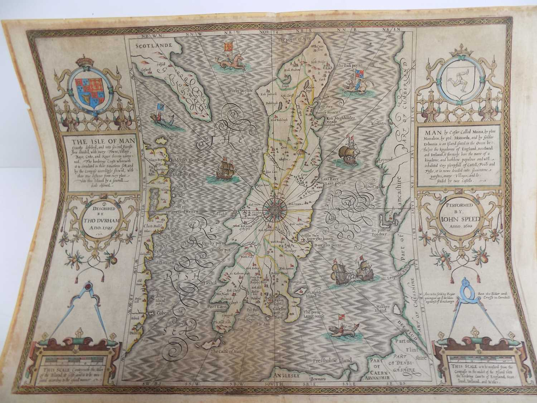 "Lot 1263 - JOHN SPEED. good engraved map ""The Isle of Man...."