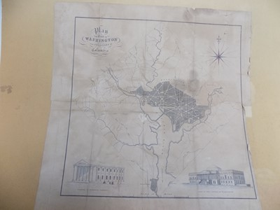 """Lot 1264 - """"Plan of the City of Washington & the..."""