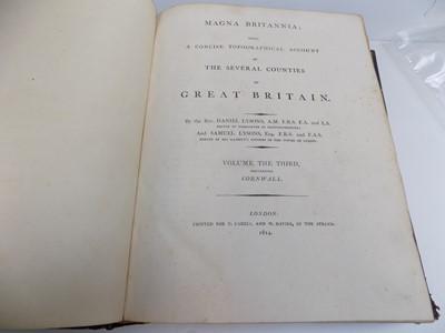 "Lot 1269 - LYSONS (D. & S.) ""Magna Britannia... Cornwall.""..."
