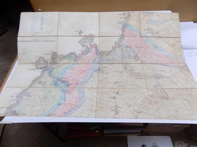 "Lot 1270 - ""Geological Plan of Tintagel & District.""..."