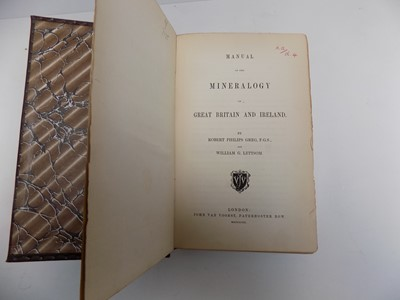 """Lot 1271 - GREG (R.P.) & LETTSOM (W.G.). """"Manual of the..."""