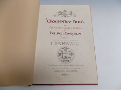"""Lot 1277 - """"Domesday Book...Cornwall."""" the 1861 edition."""