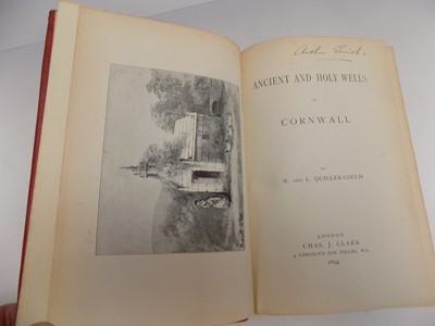 Lot 1280 - QUILLER-COUCH (M. & L). Ancient and Holy Wells...